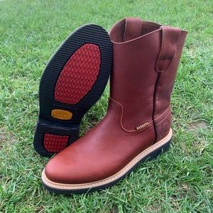 Men's Work Leather Pull on shedron boots style 100